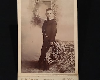 Cabinet Card of a Dapper Lad, 19th Century Photograph, Antique Cabinet Card Photo