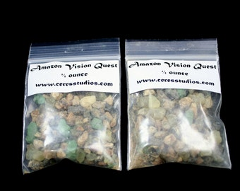 Amazon Vision Quest resin incense with FREE charcoal - aromatherapy, air freshener, ritual supplies, energy cleanser
