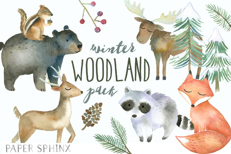 winter woodland animals clipart watercolor forest animals chipmunk clip art black and white chipmunk clip art images
