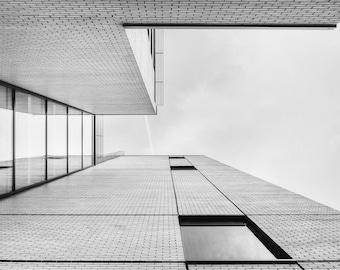 Building Photo - Urban Digital Photo - Urban Photo - City - Minimal - Black and White - Digital Photo - Digital Download - Home Decor