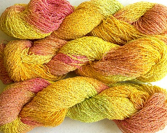 Sparkle,  fine cotton/metallic yarn, 300 yds - Citrus