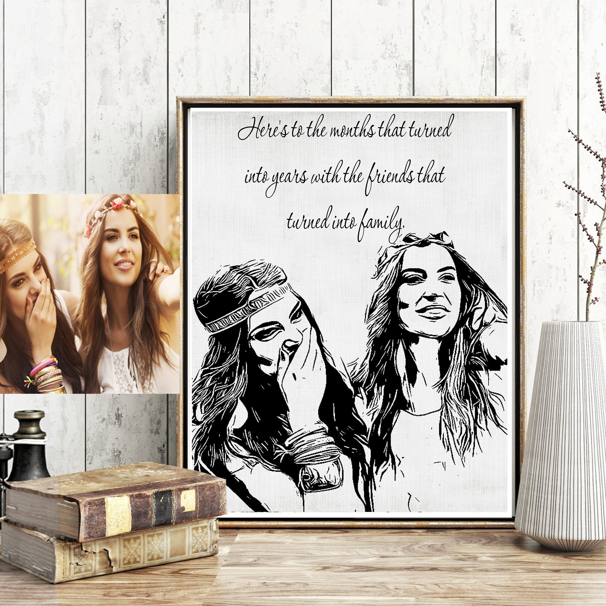 personalized best friend gift personalized gift best friend