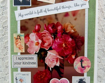 My World is Full Of Beautiful Things Kindness Card Thank You Card Gratitude Card Friendship Card Bff Card You Are Kind Card Thankful Card