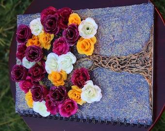 Bohemian Flower Tree Book [ Mystical Book / Notebook / Lined Journal ]