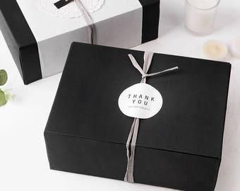 4 Medium size black gift box,black favor box,bakery box,cookie gift box,large gift box,clothes gift box,black packaging box,bridal shower