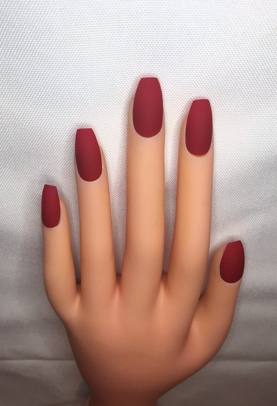 Blood Red Press On Nails l Red Fake Nails l Red False Nails l