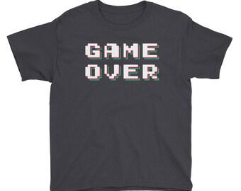 Game Over Kids Shirt Cool Gamer Gear