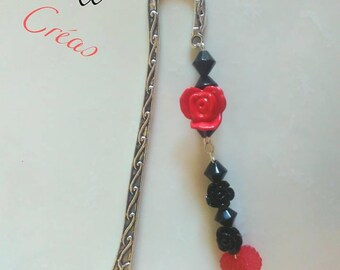 Bookmark metal, red and black