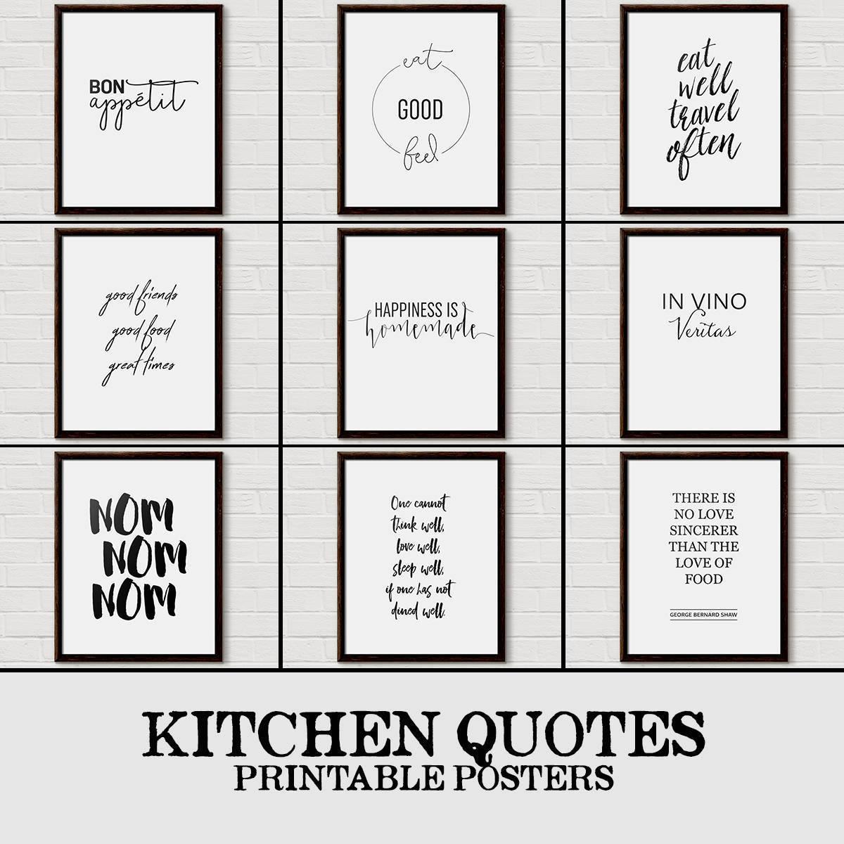 Kitchen Quote, Kitchen Wall Art, Kitchen Decor, Messy