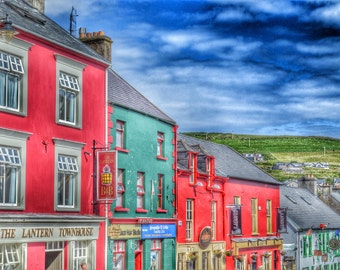 Ireland Photography, Dingle Peninsula, Ireland Street Photo, Irish Landscape, Irish Home Decor, Ireland Print