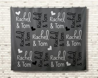 Personalized Couples Blanket, Custom Wedding Blanket, Monogrammed Throw, Anniversary Blanket, Christmas Gift For Couples, Unique Gift