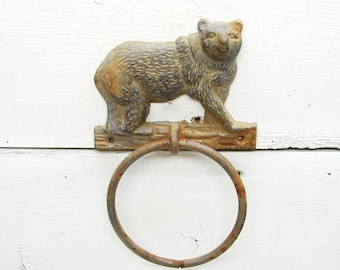 Rusty Bear Hook Cabin Decor Rustic Umbrella Hook Decorating Cabin Lodge Decor