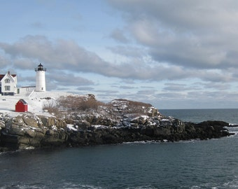 Lighthouse Photo 5x7 Signed Print Maine Ocean Wall Art