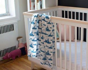 Blue Tugboat Organic Swaddle Blanket - Swaddle Blanket - GOTS Certified - Muslin Baby Blanket - Muslin Baby Swaddle - Gauze Baby Swaddle