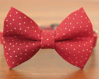 Red Christmas Cat Bow Tie Collar