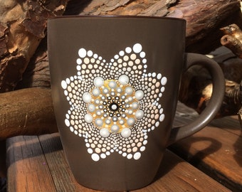Mandala mug brown