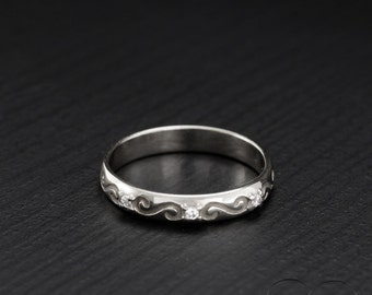 Sterling silver infinity ring, Anniversary ring, Unique wedding band, Small silver ring, Wedding band sterling silver, Simple wedding band