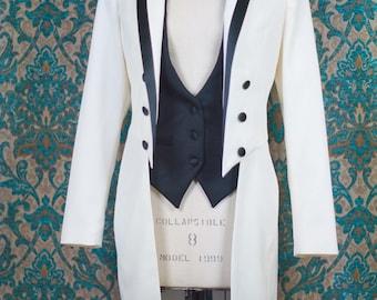 Women's White Tie----Custom Tailcoat, Vest and Pant