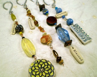 Handmade Blessed Car Charm, Gratitude Car Accessory, Rear View Mirror Ornament, Car Ornament, Car Decor, Meditation Charm, Car Bling