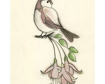 Bird Wall Art Print - Bird Artwork - Bird Decor   Spring Bird - 4 X 6 PRINT - 4 for 3 SALE