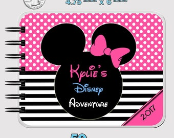 """Pink Classic Disney Autograph Book Minnie Mouse - Journal- Notebook - Sketchbook - Vacation Book - 4.75"""" x 6"""""""
