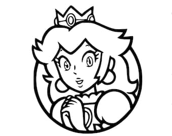 Peach circle Vinyl Decal, Any color, Any size, Funny, Car Decal, nes, snes, n64, video games  Stickers, Mario, wall decal, Window decal