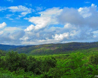 Clouds over the Mountains Nature Photography Print