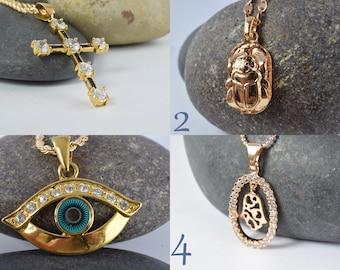 Gorgeous 18KT Gold Filled Pendants,Wholesale Gold Filled Pendants,CZ Clear Cubic Zirconia Pendants, Pinky Gold Filled Pendants, Wedding Gift