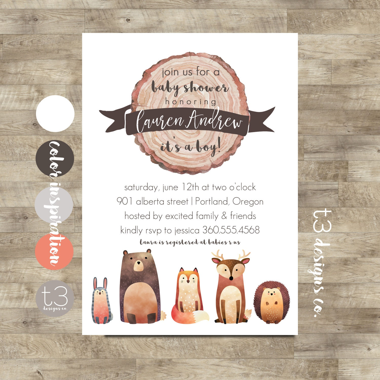 Woodland Baby Shower Invitation Printable, woodland baby shower ...