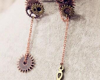 Punk Gears earrings unique earrings