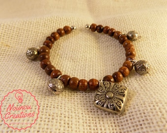 Hard Wood beads Bracelet