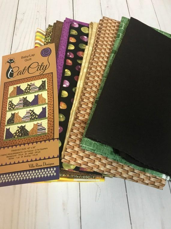 Cat City Quilt Kit  42x56  Baby Lap Quilt