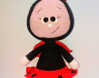 Ladybug crochet - crochet amigurumi - crochet ladybug doll -