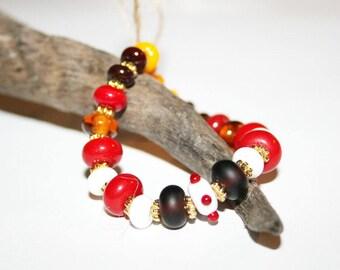 Lampwork beads, glass beads, artist beads, multicolor, handmade glass beads, Lampworkperlen, handmade set