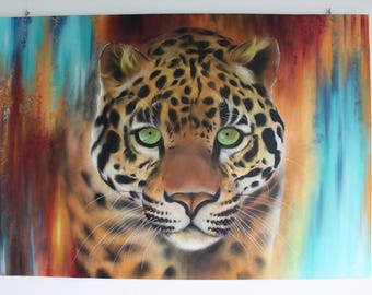 Jaguar, graffiti art, spray paint art,