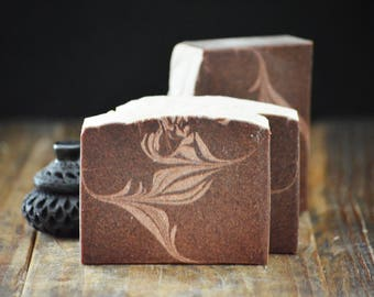 Sacred Sandalwood Soap | Grape Seed Extract Herbal Soap, Cold Process Artisan Soap, Vegan Scented Soap, Burgundy Soap, Sensitive Skin Soap