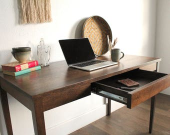 Oak Desk with Drawer