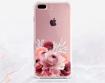 iPhone 8 Case iPhone X Case iPhone 7 Case Ranunculus Clear GRIP Rubber Case iPhone 7 Plus Clear Case iPhone SE Case Samsung S8 Case U190