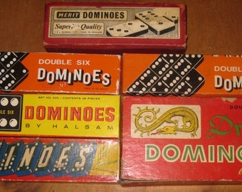 8 Boxes of Vintage Dominoes, Instant Collection, Altered Art, Resale