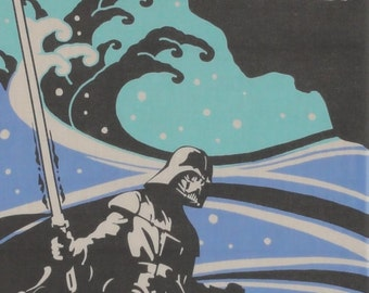 Star Wars Fabric Darth Vader and Yoda Cotton Japanese Tenugui Cloth w/Free Insured Shipping