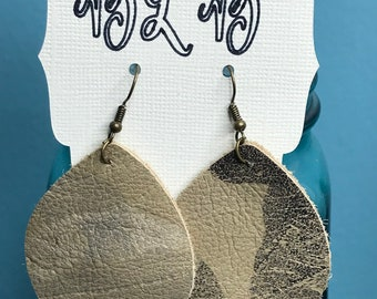 Leather Embossed Earrings