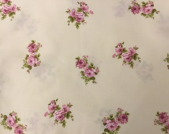 Pink Cotton Satin Fabric