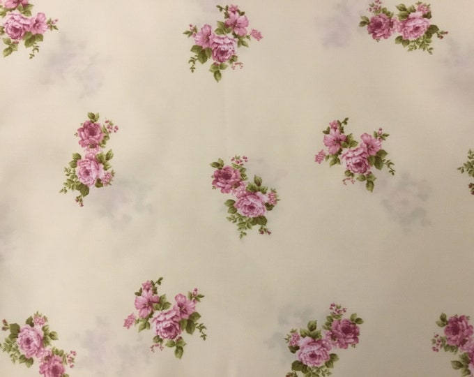 Pink Cotton Satin Fabric