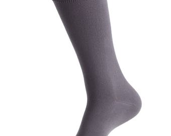 CHARCOAL  -David's Bridal match, specialty color grooms socks, groomsmen socks, wedding gift, bridal party, dress socks