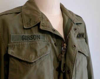 FINAL SALE --- Vintage 1950s M-51 US Army Field Jacket, Distressed