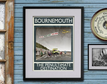Bournemouth: The Penultimate Destination - A3 Rubbish Seaside print (signed and dated)