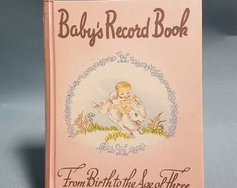 Vintage Baby's Record Book from Birth to the Age of Three