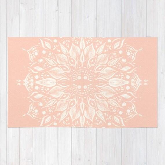 Pink Flower Mandala Area Rug Light Pink Area Rug Pink