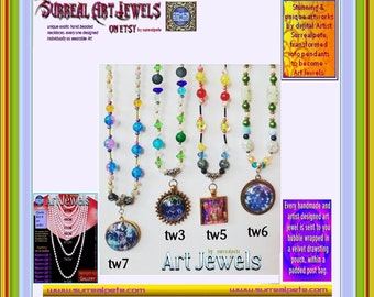 Art Jewel Necklace Handmade Jewelry Gifts - 25mm SetOne
