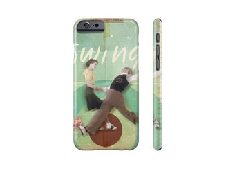 SWING Dance Phone Case, iPhone 8 Case, Samsung Galaxy Case, Retro Phone Cover, iPhone 7 Plus Case, Galaxy s7, Protective Case for iPhone X.